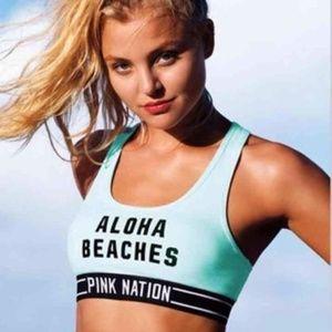 Victoria Secret Pink Aloha Beaches Sports Bra